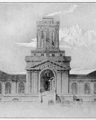 Henry Hornbostel, Machinery Hall, Carnegie Technical Schools (now Carnegie Mellon University), rendering, ca. 1913.