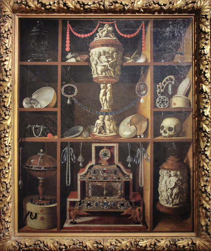 """Cabinet of Curiosities - Johan Georg Hainz (1630-1688) c.1666"" by Kotomi is licensed under CC BY-NC 2.0 (https://www.flickr.com/photos/23586209@N03/8445613298)"